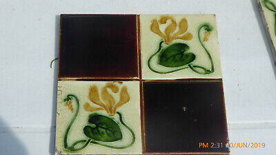A Art  Nouveau   Tile  By  Thomas & Richard  Boote