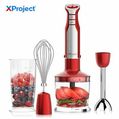 XProject 6 Speed Powerful Immersion Hand Blender 800W 4-in-1 Hand Blender mixer