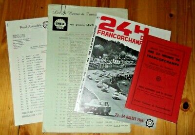 1966 Press Kit Programme 24h Spa Francorchamps BMW 2000 TI Hahne Ickx Mairesse