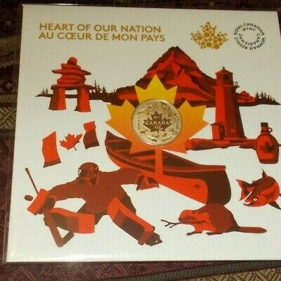 Canada coin Heart Of Our Nation 150 Year Celebration 9999 Solid Silver Coin Mint