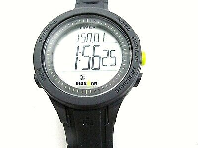 Timex Mens Ironman 30 Lap Essential Indiglo Watch Black