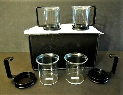 Set Of Four - Bodum Bistro Coffee / Espresso Cups - Made In Switzerland