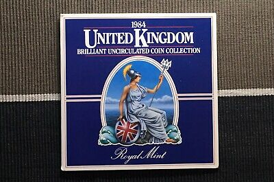1984 Brilliant uncirculated Coin Set Royal Mint coin collection BU