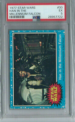 Star Wars - Series 1 (Blue) Trading Card # 30 - Topps 1977 - PSA Graded - EX 5