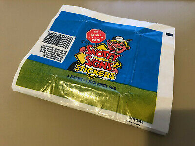 Snotty Sign - 10x Wax Pack Card Wrappers - 1986 Topps - No Tears !!!