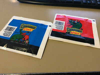 Dinosaurs Attack !!! - 40x Wax Pack Card Wrappers - Topps 1988 - NO TEARS !!