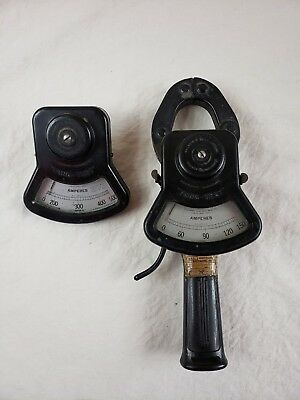 Vintage Columbia Electric Tong Test Gage D + 2 Amperes Meters 150 & 500 Amps