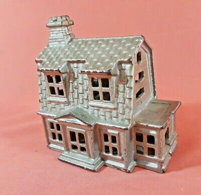 Antique AC Williams Cast Iron Colonial House Bank