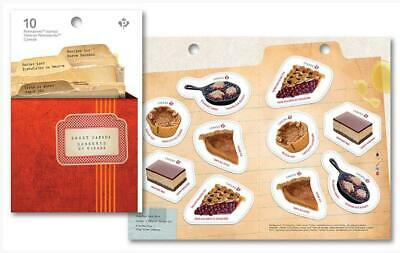 2019 Canada 📭 SWEET CANADA BOOKLET of 10 📬 5 different designs🥧🥮