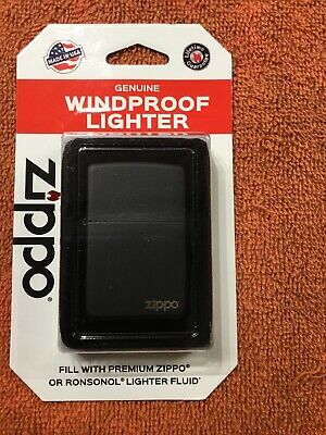 Zippo Windproof Black Matte Lighter, #218, Made in USA, New In Box