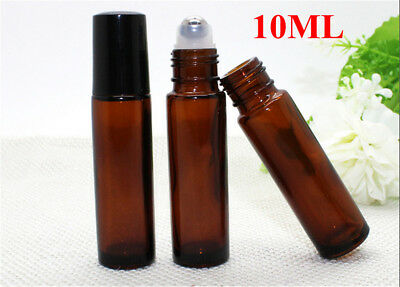 10ml Roll on Glass Bottle Essential Oil Perfume Roller Ball Bottle with Cap FO