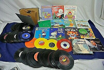 Vintage 45 Rpm Records, Lot Of 75+,  1950'S, All Genres
