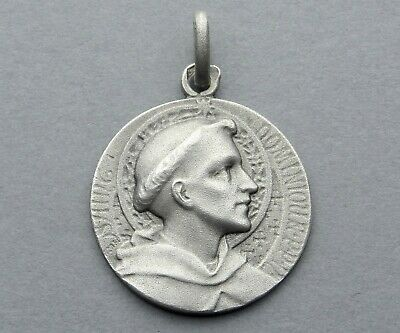 767ebbd3345 French, Antique Religious Silver Pendant. Saint Dominic. Dominican. By  Tricard.