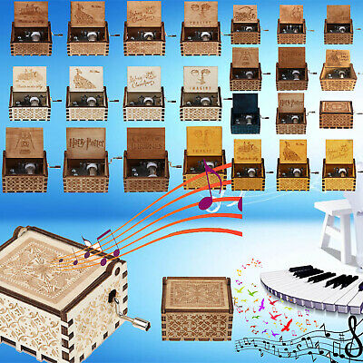 Harry Potter Wooden Hand Engraved Music Box Fun Interesting Toys Kids Gifts IT