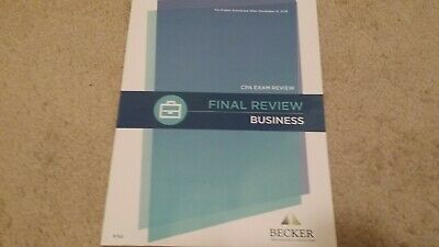 NEW} 2018 BECKER CPA FINAL REVIEW Financial FAR V3 2 + RQ 05'-18