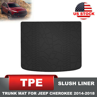 KIWI MASTER TPE Slush Cargo Tray Floor Liners Trunk Mats for Jeep Cherokee 14-18