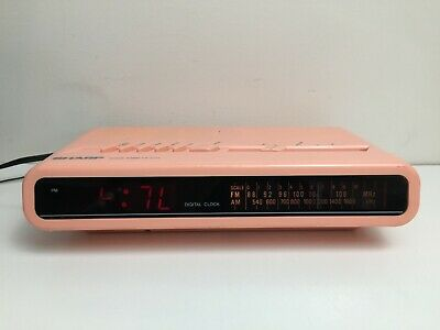 Sharp - Model FX-C11A -Digital Clock Radio - Pink - Retro - Vintage - Alarm -