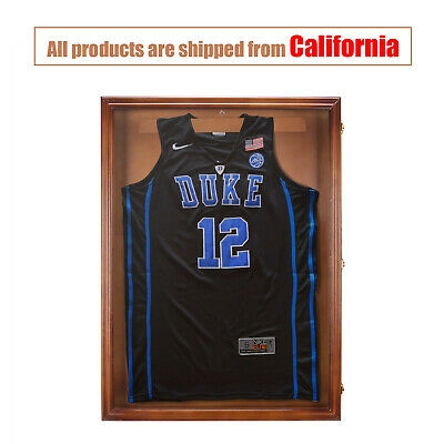 "31.4""Jersey Display Case Shirt Shadow Box Wall Frame Cabinet with Lock"