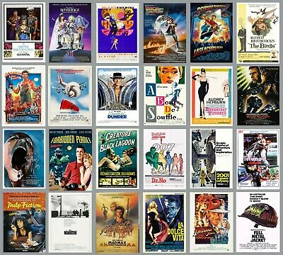 Classic MOVIE POSTERS A3 Size Photo Print Film Cinema Wall Decor Fan Art