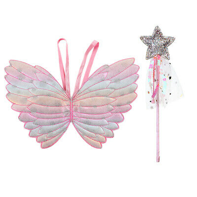 Children Kids Performance Props Butterfly Princess Angel Wings Fairy Stick Toys