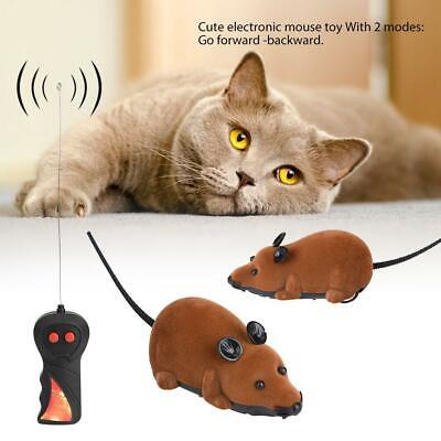 Funny Cat Activity Toys ABS Fake Mouse Mice Pet Wireless Toy Remote Control