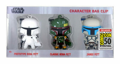 SDCC 2019 Star Wars Monogram Character Bag Clips Boba Fett Comic Con Exclusive