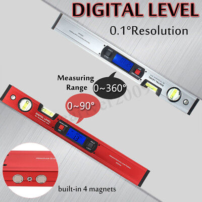 360° Upright Display Digital Spirit Level Angle Finder Magnet Inclinometer
