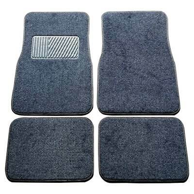 Car Floor Mats Universal Carpet Durable 4 Set Front &Rear Carpet  Large Non-Skid