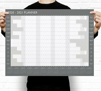 Large A2 2019-2020 Academic Wall Planner Calendar ~ Mid Year