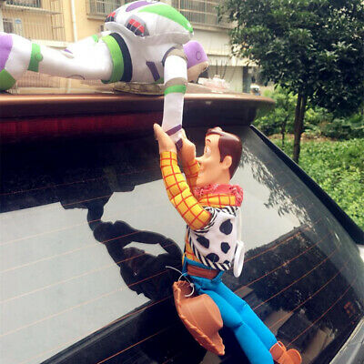 2019 Funny 3D Toy Story Sherif Woody And Buzz Car Doll Outside Car Hanging toy