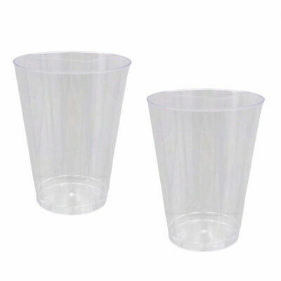 Disposable Plastic Cup 200ml Drinking Cups Glasses Wedding Party Birthday BULK