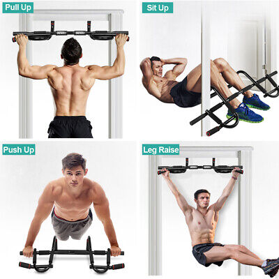 Home Gym Chin Pull Up Bar Doorway Exercise Bar Strength Fitness Equipment OT005
