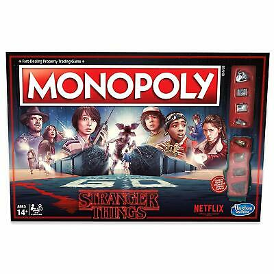 Monopoly: Stranger Things Edition Netflix 80s Board Game Hasbro Age 14 And up
