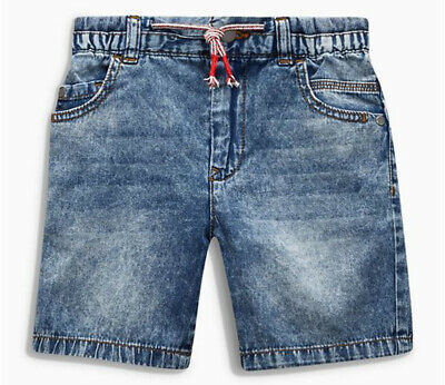 Next Boys Mid Blue Acid Wash Denim Shorts Age 11 Years BNWT