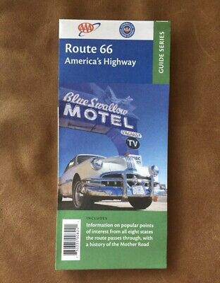 AAA ROUTE 66 AMERICA'S HIGHWAY Travel Road Map Vacation Mother Road Roadmap