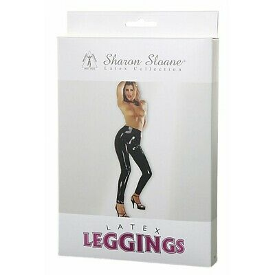 Sharon Sloane Latex Leggings Black Medium
