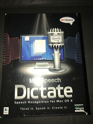 -=RARE=- MacSpeech Dictate (Mac) Apple Intel processor OSX 10.5.6 and later