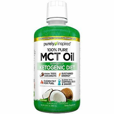 100% Pure MCT Oil, Sourced from Coconut, Supports Keto & Paleo Diets, Non-GMO, G