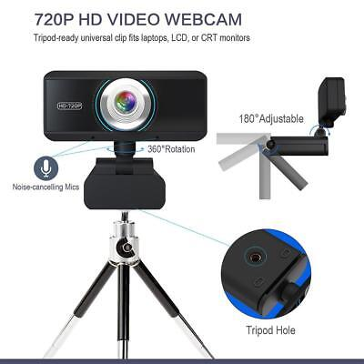 WEBCAM 720P HD, GUCEE HD92 Skype Web Camera Wide Angle with