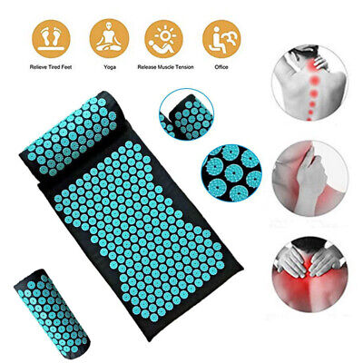 Home Massage Cushion Acupressure Mat Relieve Stress Pain Acupuncture Yoga Pad