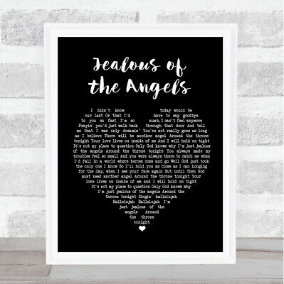 Jealous of the Angels Black Heart Song Lyric Print
