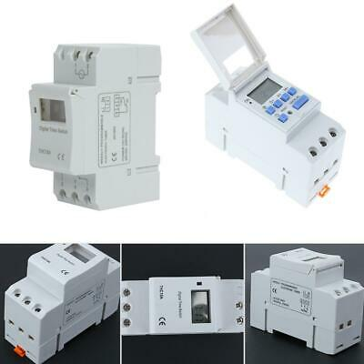 AC 220V-240V Digital LCD DIN Programmable Weekly Rail Timer Time Relay Switch