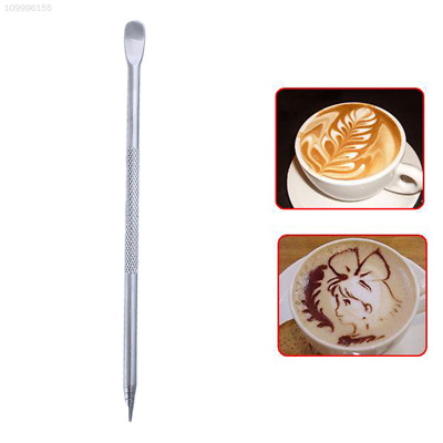 Barista Coffee Cappuccino Latte Espresso Decorating Art Pen Stainless Steel Cafe