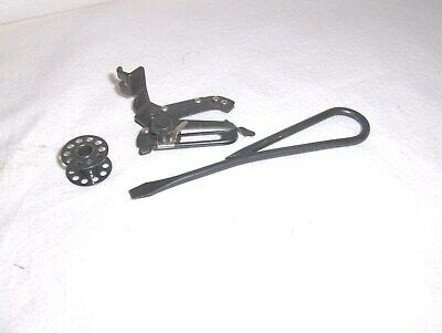 3 different singer sewing machine WWII Blackside Accessories      FREE SHIPPING