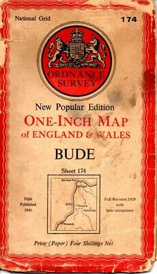 Ordnance Survey New Popular Edition 1946 OS map Sheet 174 Bude