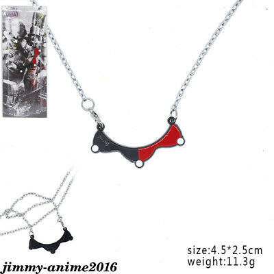 Suicide Squad Harley Quinn Necklace Black red Choker Accessories Metal Pendants