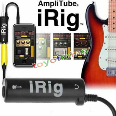 3.5mm Multimedia AmpliTube iRig Guitar Interface Adaptor For IOS Device