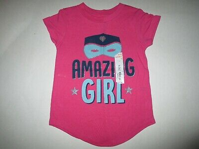 New Jumping Beans Toddler Girls 2t Pink Amazing Girl Tee T-shirt Top