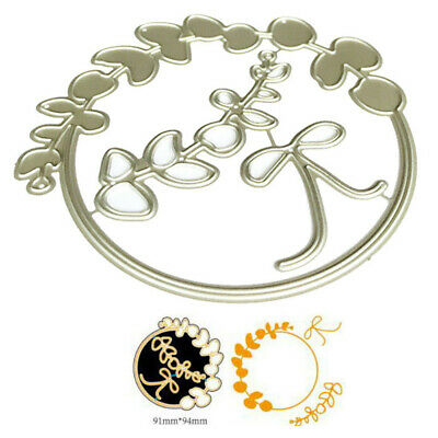 Leaves Circle Metal Cutting Dies Stencil for DIY Scrapbooking Paper Card Decor^S