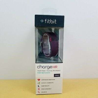 Fitbit charge HR Activity Fitness Sleep Tracker Smartwatch Plum - SMALL